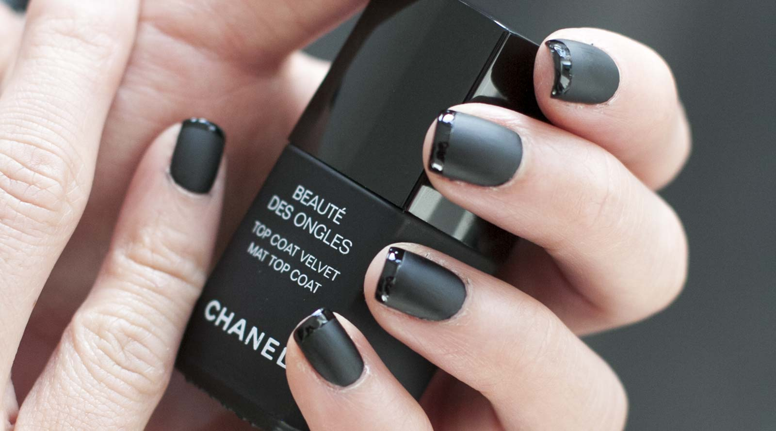 Black French Manicure - RevealMyStyle